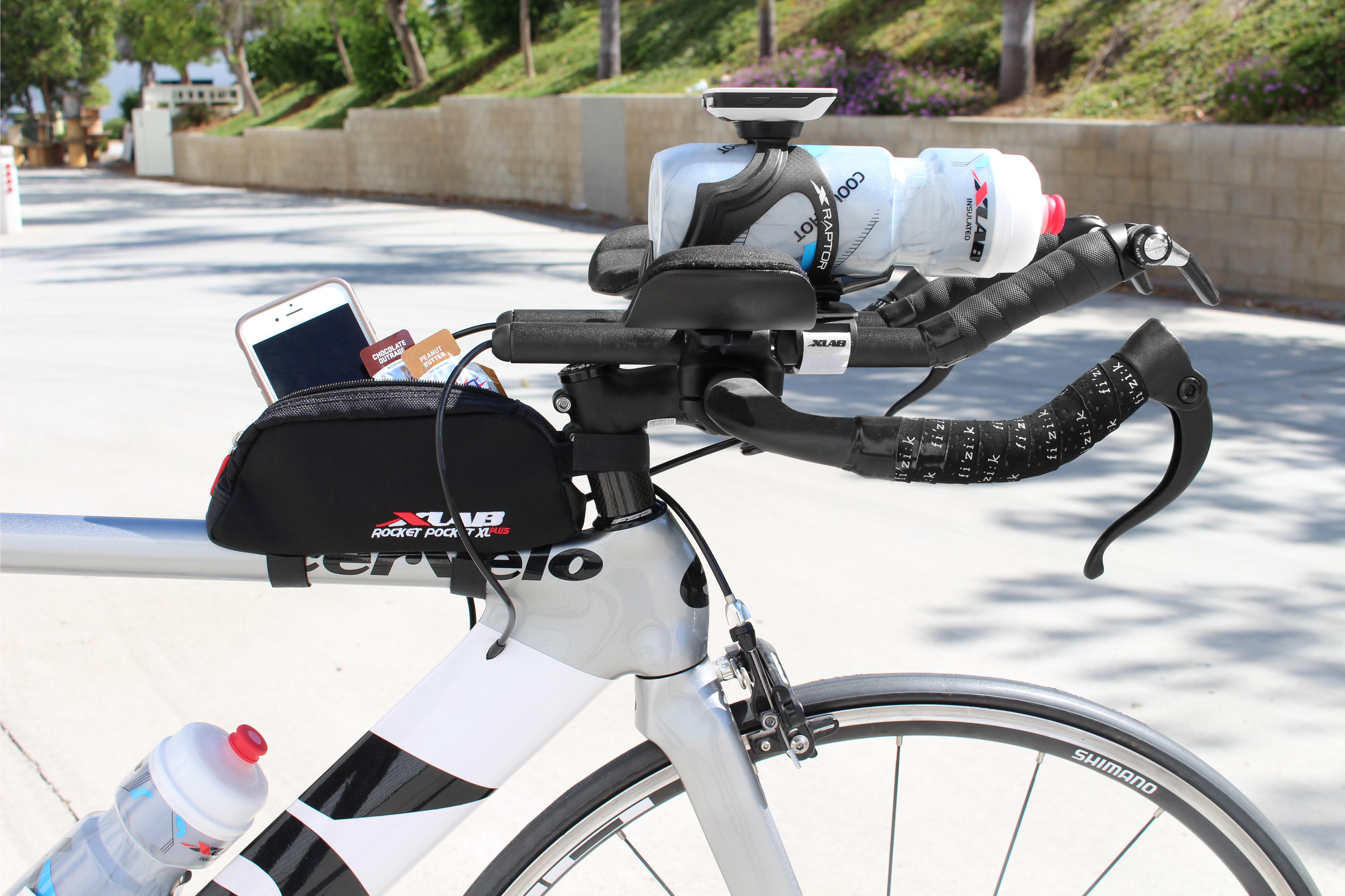 XLab Rocket Pocket Aero Stem Bag-Red-Bicycle Nutrition Carrier-New
