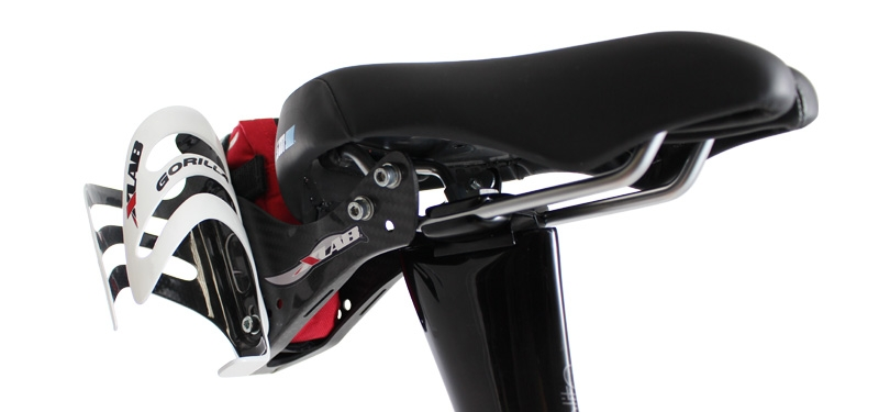 XLab Saddle Bag KONA Road Tri MTB for Co2 tube levers Red or Black NEW